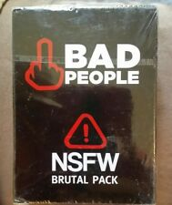 Bad People The Adult Party Game  NSFW Brutal Expansion Pack 80 Cards Only