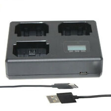 Three LCD Display NP-FW50 Battery Charger For Sony Alpha A6500 A6300 A6000 A7r A
