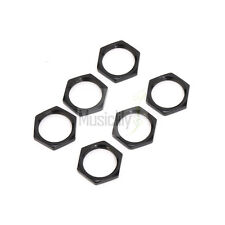 New 10Pcs Black Metal Hex Nuts For Guitar Bass Metric 3 Way Toggle Switch Parts