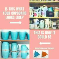 Mug Organizer Storage Stacker Kitchen Cabinet Shelf G Expandable Creative W2G5