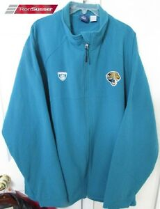 NFL Jacksonville Jaguars Team Issued Full Zip Jacket 3XL by Reebok Onfield