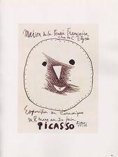 """1989 VINTAGE  """"PICASSO EXPOSITION CERAMIQUES"""" MOURLOT Color offset Lithograph"""