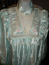ILISE STEVENS Aqua Torquoise Lacy Embroidered Satin gown New w tags Sz M