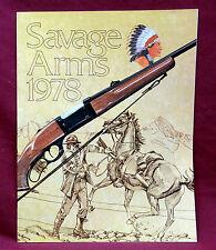 "1978 Savage Arms Co. Retailer's Catalog. 8 1/2"" x 11"" , NOS"