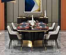 Noble Lujo Diseño Mesa Ess Habitación Salón Tablas Madera Mueble Metal Moderna
