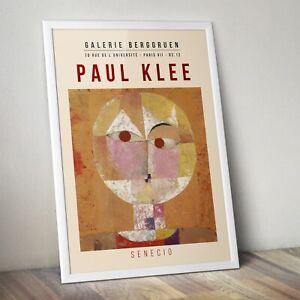 Paul Klee Art Print, Senecio by Paul Klee Print, Abstract Art Print