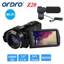 Ordro HDV-Z20 1080P numérique Caméra Vidéo 16× Zoom 24MP Face Détection 2017 Q1Q