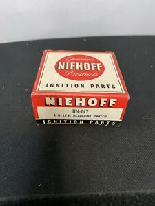 Brand New Vintage Niehoff UN-147 Headlight Switch Ford/Chevy NOS