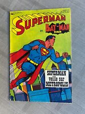 SUPERMAN ET BATMAN N°1 1967 ÉDITION SAGÉDITION BON ÉTAT