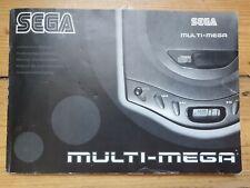 Sega Mega Drive Multimega - INSTRUCTION MANUAL & reg card - excellent condition