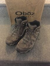 Oboz Sawtooth Mid Waterproof Canteen Green Nubuck Mens Hiking Shoes - Size US 13