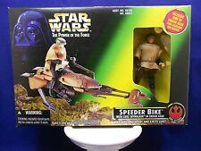 "Star Wars POTF 2 1996 Speeder Bike Inc. Luke ""Battle Poncho"" - Green Box - MIMP"