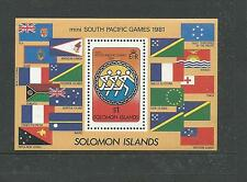 1981 Mini-Sth Pacific Games  Mini Sheet Complete MUH/MNH as Purchased