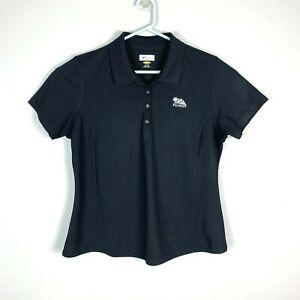 Greg Norman Black Short Sleeve Premium Golf Polo Shirt Size Ladies XL 'PGA West'
