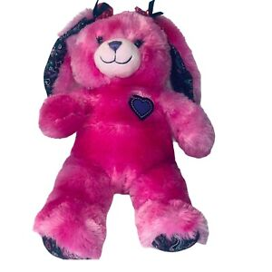 "Build a Bear 16"" Plush Friends Forever Pink Bunny Rabbit Stuffed Animal BAB"