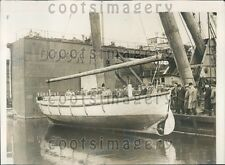 1929 Germans Test New Life Boat Bremen Press Photo