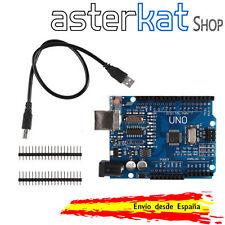 UNO R3 ATmega328 CH340G compatible ARDUINO + cable USB y pines de montaje extra