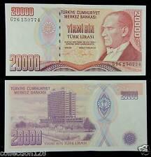 Turkey Paper Money 20000 Lirasi 1995 UNC