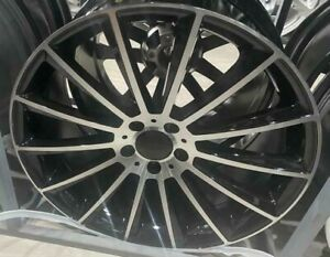 "20""black pl turbine alloy wheels audi / mercedes e s amg cls sl class staggered"