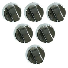 6 X Universal Beko, Leisure, Flavel Chrome Cooker Oven Hob Control Knob Silver