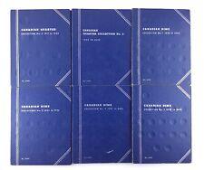 6 Canadian Blue Coin Collector Books Canada Dime Quarter Whitman USA Made M505
