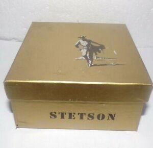 Vintage STETSON Brown Plastic Salesman Sample Western Cowboy Hat w/Box