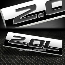 METAL EMBLEM CAR BUMPER TRUNK FENDER DECAL LOGO BADGE CHROME BLACK 2.0L 2.0 L
