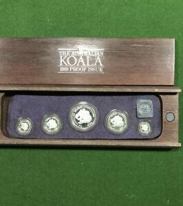 The Australian Koala Proof Issue Platinum 5 Coin Set 1989 In Capsule In Box.