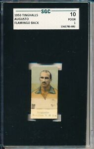 1950 Tinghalls SGC 10 = PSA 1 AUGUSTO FLAMINGO Back BRAZIL  VHTF Soccer card!
