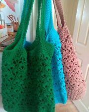 Crochet Market Tote Bag. Eco friendly reusable bag. Ditch the plastic.Boho.