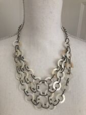 Of Pearl Silver Necklace With Extender Nwot Premier Designs Sandy 16-20� Mother