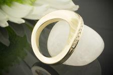 Schmuck Hoher Designer Ring mit Schwungvollem Design 585 Gelbgold mit Brillanten