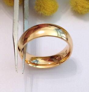 18KT SOLID SLIGHTLY ROSE GOLD WEDDING UNISEX BAND RING - GR. 8.59