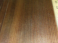 """Fumed Larch wood veneer raw 5"""" x 54"""" with no backing 1/42"""" thickness roll """"A"""""""