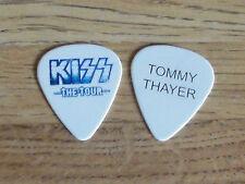 KISS TOMMY THAYER 2012 THE TOUR TOUR ORIGINAL BLUE ON WHITE GUITAR PICK!