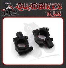 Universal Black Mirror Brackets Pair for Quad/ATV 10mm Thread