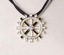 Gelbgold beschichtete Modeschmuck-Halsketten & -Anhänger aus Emaille für Damen