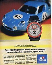 PUBLICITE ADVERTISING 015 1970 TISSOT montre