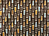Brown ROBERT KAUFMAN GROOVE Cotton Mid Century geometric vintage abstract tiki