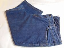 Dickies Dark Wash Denim Relaxed Fit Plus Size 20 Women's Capri Made In USA