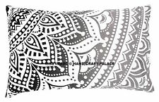 INDIAN OMBRE MANDALA STANDARD PILLOW CASES/Body Pillow Case / Long Pillow Case