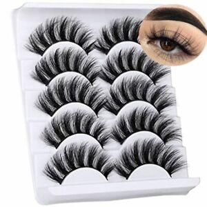 5D Faux Mink Eyelashes Wispy Fluffy Eye Lashes False Eyelashes 20mm Natural