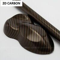2D Carbonfolie Gold 150 cm x 30 cm  Blasenfrei mit Luftkanäle Car Wrapping