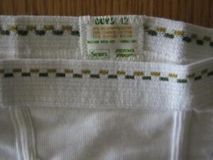 Vintage underwear Sears best men's-boy's white brief Made in USA DOUBLE SEAT!