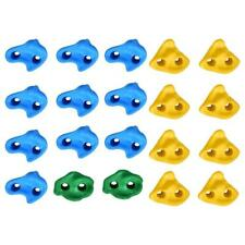 20 Pcs Kids Textured Multi-color Rock Climbing Wall Stone with Assorted Kit Bolt
