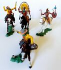 Britains Herald Plastic Swoppet Mounted Cowboy & Indians