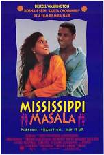 MISSISSIPPI MASALA Movie POSTER 27x40 B Denzel Washington Sarita Choudhury
