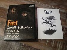 Gounod Faust - London, Sutherland, , Bonynge (Import) Used 3-Cassette Box   y21