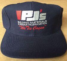 Vintage Original PJ's 'Building Materials & Rebar Fabrication' Adjustable Hat