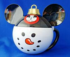 Disneyland Christmas Mickey Mouse Club Snowman Ornament Drink Holder mug stein